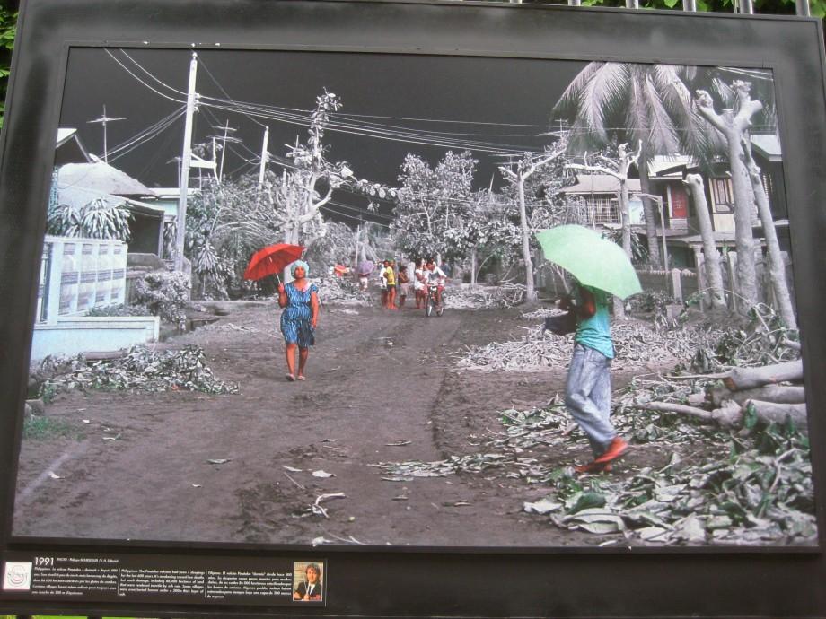 Foto efter Pinatubos utbrott 1991