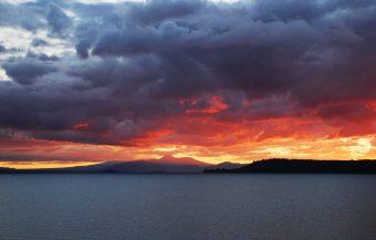 Lake Taupo, New Zealand. Christmas Eve, 2011
