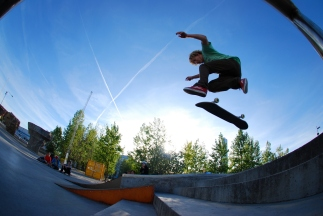 My son´s happiest moments are in the big bowls of Malmoe skate park. I have been there too, just to see him enjoy!