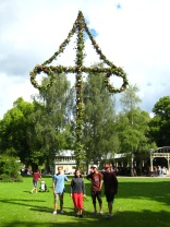 Visiting the nearest town - the highest maypole