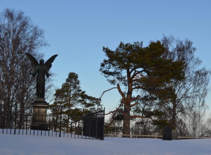 By the entrance to Frösö church