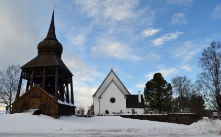 the belfry from 1754 with Birgittaklockan (Bridget of Sweden bell)