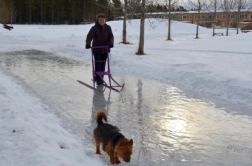 One good way of transporting yourself on ice