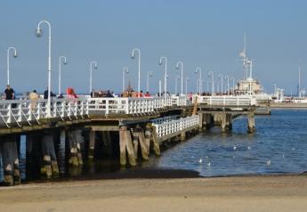 The pier is the longest wooden pier in Europe - 512 m