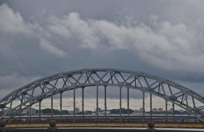 train bridge over Daugava
