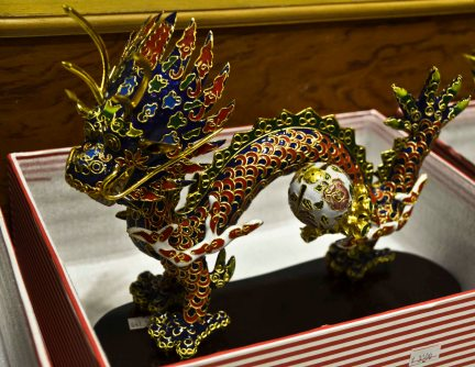 ...and dragons of course. Only the Emperor was allowed to use the dragon pattern - anyone caught having a dragon somewhere in his house was decapitated