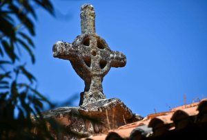 The cross on top of the church