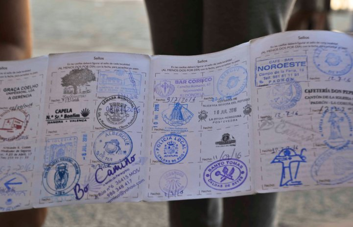 """And proud to show their stamped """"passport""""..."""