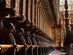 The stalls of the choir Renaissance Plateresque work by Bigarny