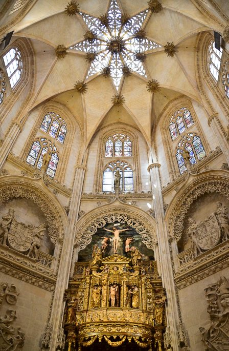 The Chapel del Constable, of Isabelline Gothic style, which worked the Colonia family, Diego de Siloé and Felipe Bigarny