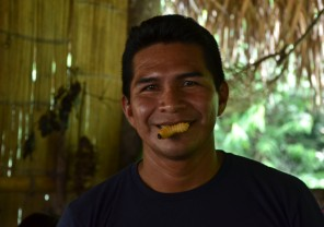 Fausto Andi was born and raised in the rainforest, and could tell us about everything from his childhood. This wivel he ate fresh...alive and kicking...