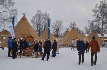 The food tents - here you can get traditional Sámi food