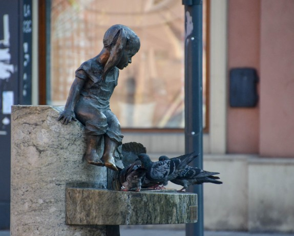 Every little drinking water fountain had its girl or boy - or both - statue, together with a fish