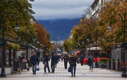 The main shoppingstreet is Vitosha - and you can see the Vitosha mountain at the far end