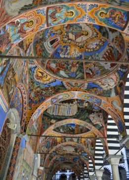 Glorious frescoes on the church
