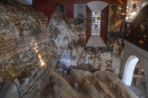 A former monastery turned into a private house - but kept the old excavations