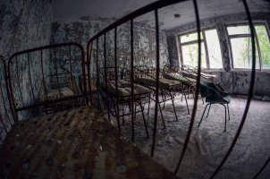 Infant beds in Pripyat Hospital