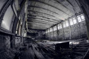 The gymnastics hall
