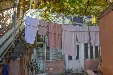 Laundry is the most significant eyecatcher in Old Town after balconies, carpentry...