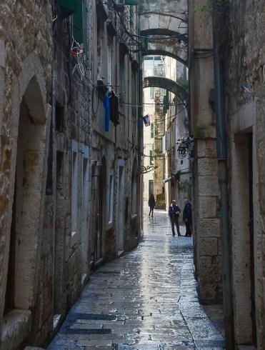 Narrow streets...